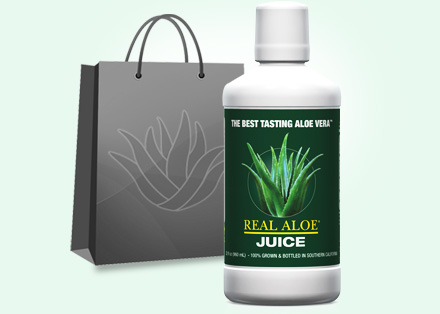 Aloe Vera Juice with Shopping Bag
